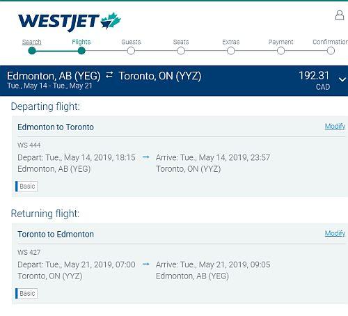 Edmonton To Toronto Or Vice Versa 192 Cad Roundtrip Including Taxes Non Stop Flights
