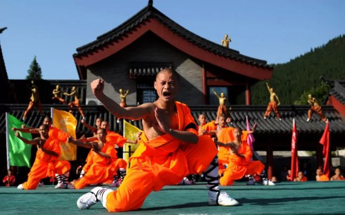 Shaolin temple in Zhenghzhou, China