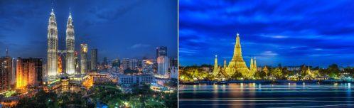 Kuala Lumpur, Malaysia and Bangkok, Thailand