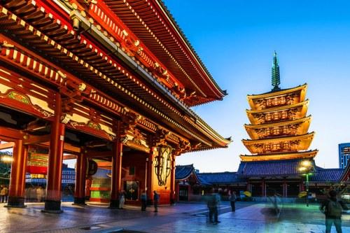 Temple in Tokyo, Japan