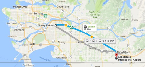 Edmonton to Abbotsford BC 88 to 98 CAD roundtrip including