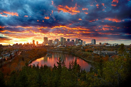 Edmonton in the fall