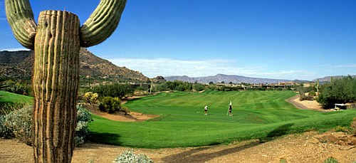 Golfing in Phoenix in the winter