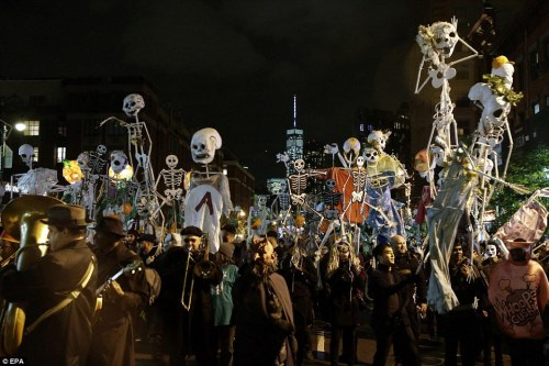 Halloween parade in New York City