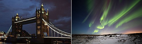 London, UK and Iceland